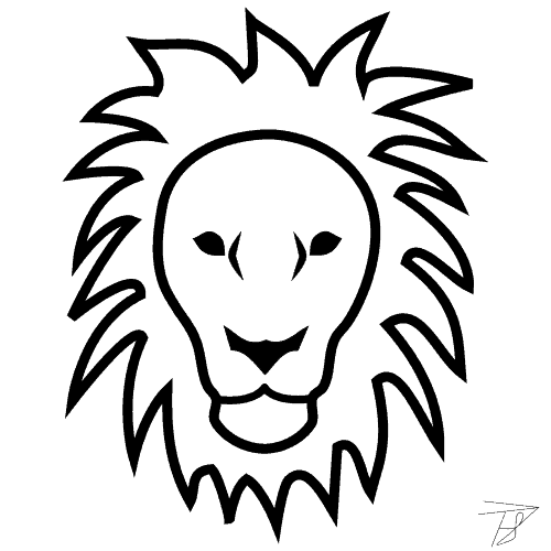 lion logo black and white